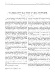 THE HISTORY OF THE BASIC SYMPTOM CONCEPT