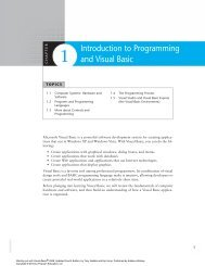 Introduction to Programming and Visual Basic - Pearson