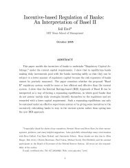 Incentive'based Regulation of Banks: An Interpretation of Basel II