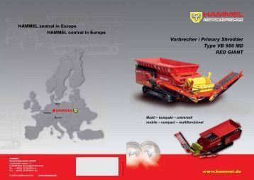 step 22 installation of g vorbrecher primary shredder type vb 950 md red giant mobil