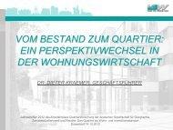 Die Strategie der VBW BAUEN UND WOHNEN GMBH - Arbeitskreis ...