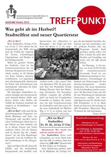 Treffpunkt Ausgabe Herbst 2012 - staaken.info