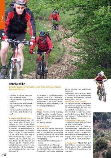 Mountainbike - Österreichischer Alpenverein Wien