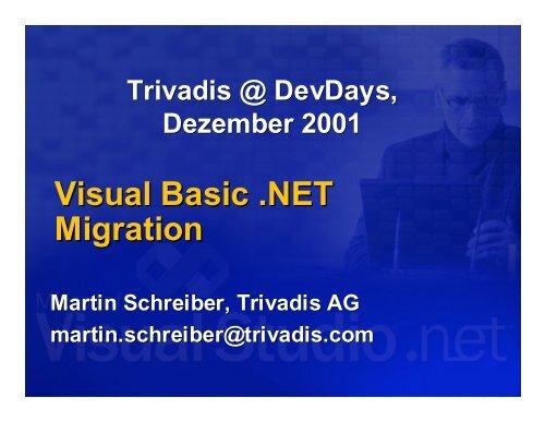 Visual Basic .NET Migration / D - Trivadis