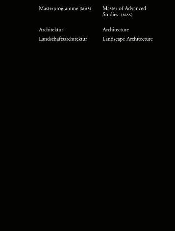 Jahrbuch 2006 / Yearbook 2006 - D-ARCH - ETH Zurich - ETH Zürich