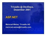 Microsoft ASP.NET / D - Trivadis