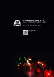 50 years of nonlinear optics nlo 50 international ... - NLO 50 - ICFO