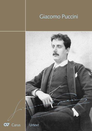 Giacomo Puccini - Carus-Verlag