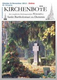 KIRCHENBOTE - Kirche Demmin Wotenick Nossendorf