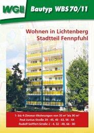 Bautyp WBS 70/11 - WGLi Wohnungsgenossenschaft Lichtenberg eG
