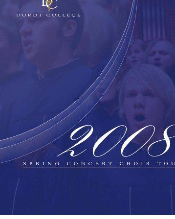 2008 Concert Choir Tour - Dordt College Homepages