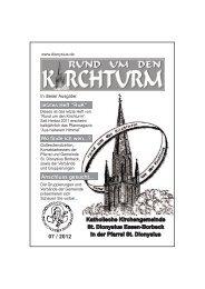 Anschluss gesucht... - Pfarrgemeinde St. Dionysius Essen-Borbeck