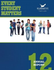 EVERY STUDENT MATTERS - Hawkeye Community College