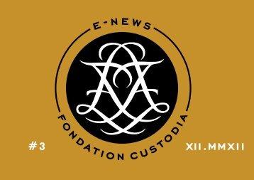 E-news number 3 - Fondation Custodia