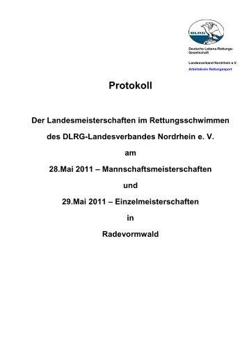 Protokoll - Landesverband Nordrhein e.V. - DLRG