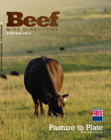 Spring 2013 Beef Sire Directory