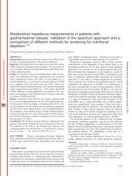 Bioelectrical impedance measurements in patients with ...