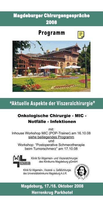 Programm - Städtisches Klinikum Magdeburg
