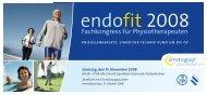 endofit 2008 - endogap Klinik für Gelenkersatz