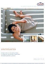 Wintergarten Prospekt - Valetta Sonnenschutz