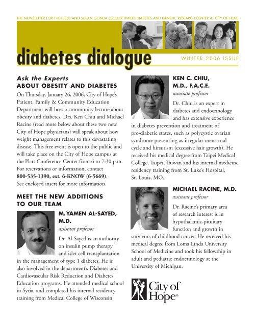 MED 6169 Diabetes Dialogue 6 - City of Hope
