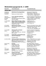 Weiterbildungsagenda Nr. 3 / 2008 - SBO-TCM