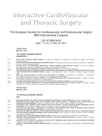 Table of Contents (PDF) - Interactive CardioVascular and Thoracic ...
