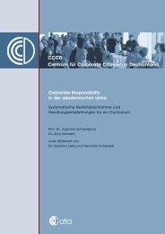 Corporate Responsibility in der akademischen Lehre ...