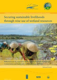 Securing sustainable livelihoods through wise use of wetland ...