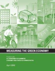 Measuring the Green Economy - Economics and Statistics ...