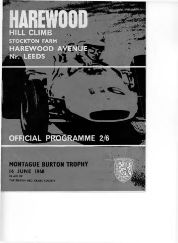 MONTAGUE BURTON TROPHY - Harewood Hill History