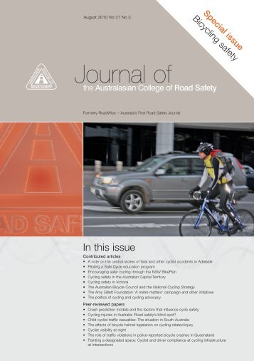 ACRS Journal Cover (Page 1) - Australasian College of Road Safety