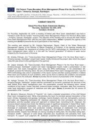 Stakeholder Meeting in Vanadzor 30 Sep ... - Kura River Basin
