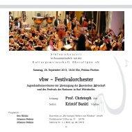 vbw – Festivalorchester - Freunde der Musik