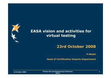 EASA vision and activities for virtual testing-Final - MSC Software