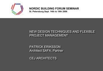 cederqvist eriksson jäntti architects - nordic building forum