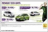 RENAULT ECO-DAYS - bei Renault Liesing!
