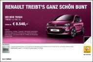 RENAUlt tREiBt'S gANz SCHöN BUNt - bei Renault Liesing!