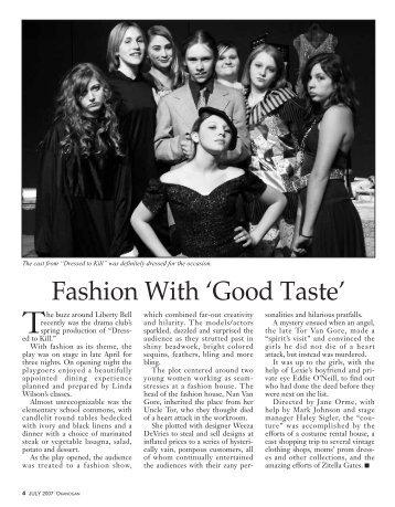 Fashion With 'Good Taste'