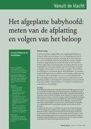 Het afgeplatte babyhoofd - Meer en Bosch Fysiotherapie