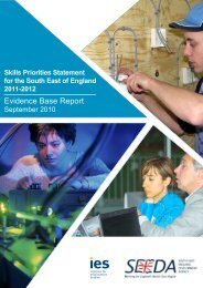 Evidence Base Report - The Institute for Employment Studies
