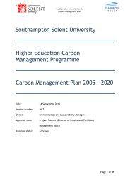 Carbon Management Plan - Southampton Solent University