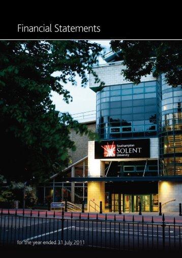 Financial Statements - Southampton Solent University