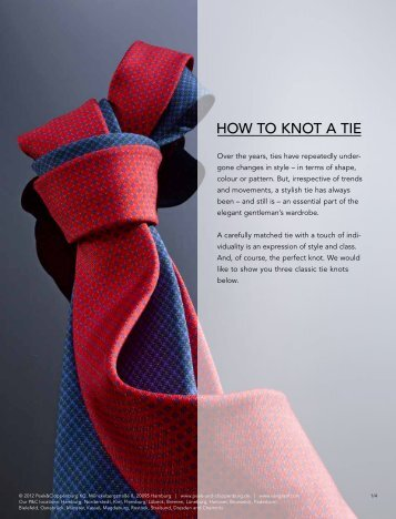 0fdd8c4365c479 How to knot a tie Download right here - Peek   Cloppenburg