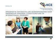 Organisatie van geestelijke gezondheidszorg voor kinderen ... - KCE