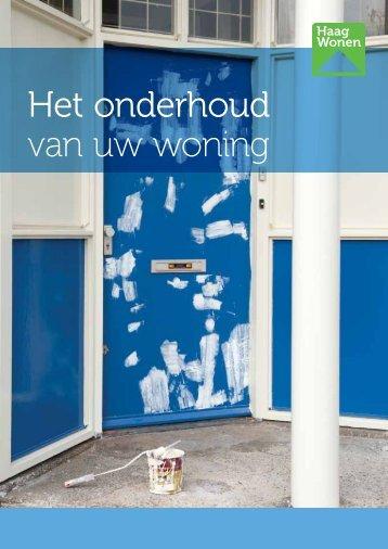Het onderhoud van uw woning - Haag Wonen