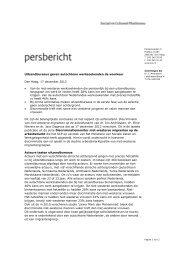 persbericht Op Achterstand - Sociaal en Cultureel Planbureau