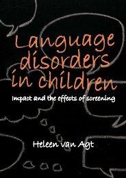 Language disorders in children - Kenniscentrum Innovatie van ...