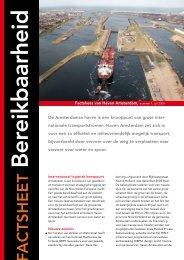 Factsheet Bereikbaarheid - Haven Amsterdam