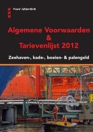 Algemene Voorwaarden & Tarievenlijst 2012 - Haven Amsterdam